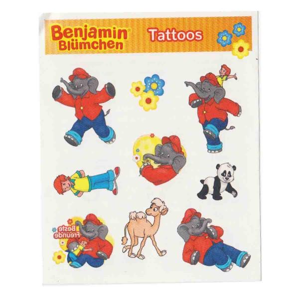 Lang haltende Benjamin Blümschen Tattoos