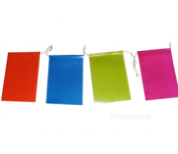 Mini-Flaggenkette bunt