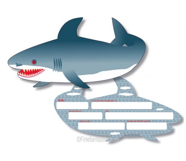Haifisch-Einladungen 6St.