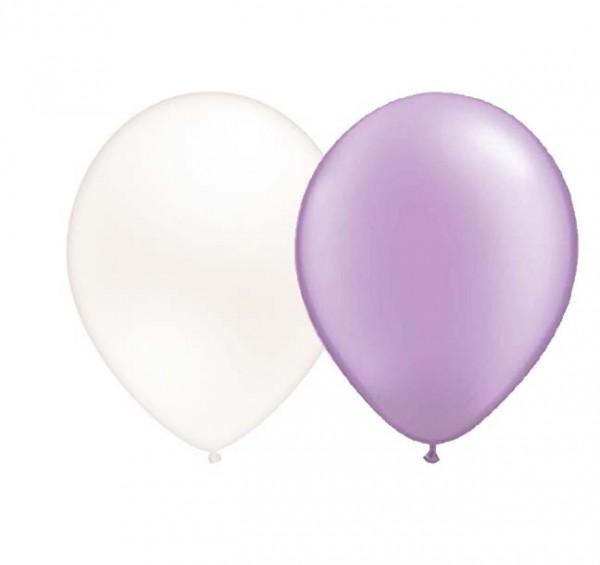 Ballons Lila/Weiß