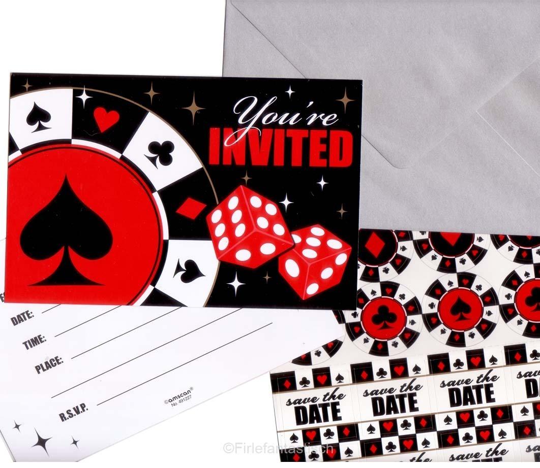 casino party einladung
