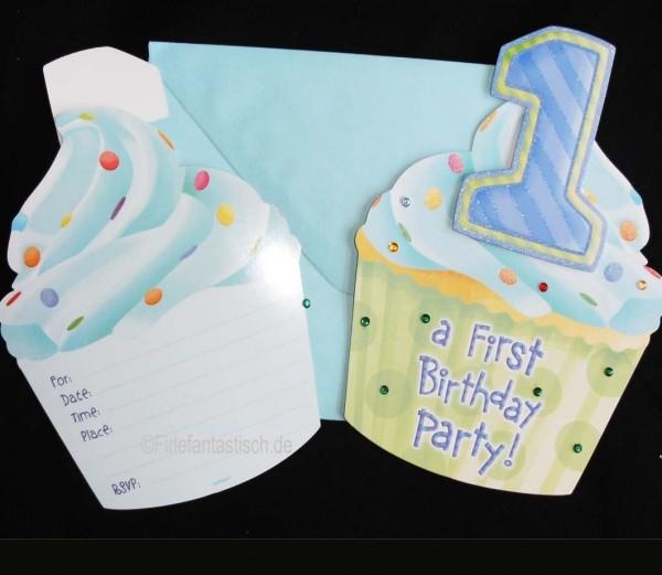 1.Geburts. Jungen-Einladungen