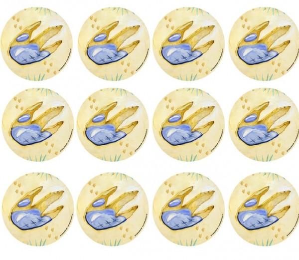 Muffinaufleger Dino-Fußabdruck 12St