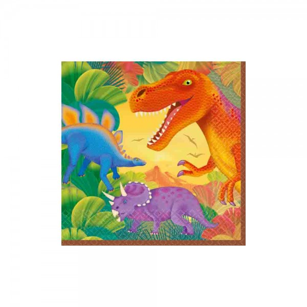 Dinosaurier-Servietten