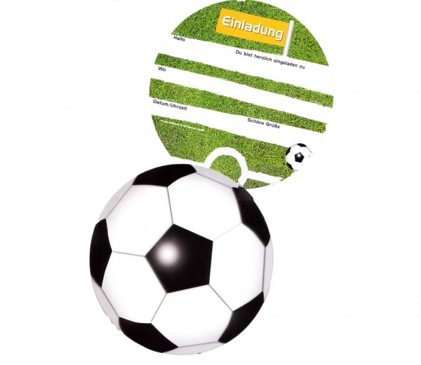 Runde Fußball Einladungskarten