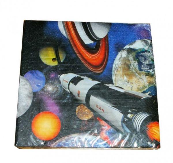 Servietten für die Weltraumparty