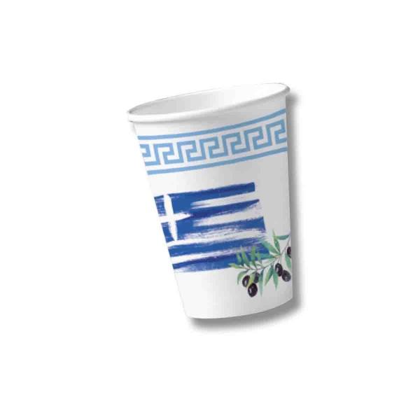 Packung mit 10 Griechenland Bechern