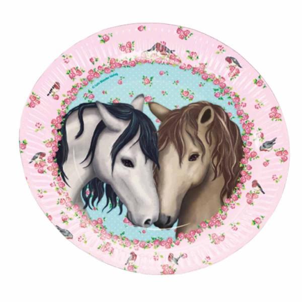 Pferde-Teller 8 Stück