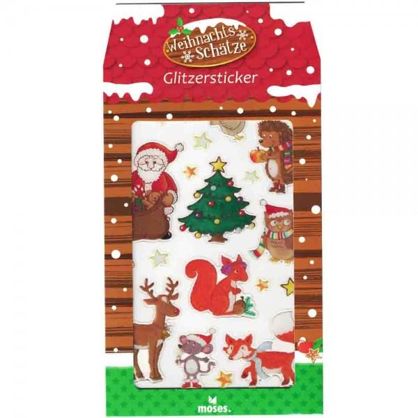 Glitzersticker Weihnachtsschätze