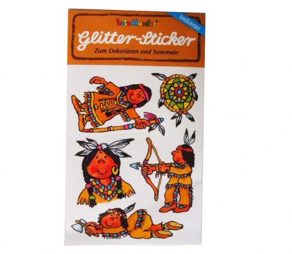 Glitter-Sticker Indianer 1 St.
