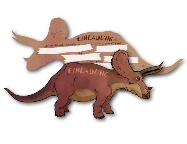 Einladungen Dino Triceraptos 6St.