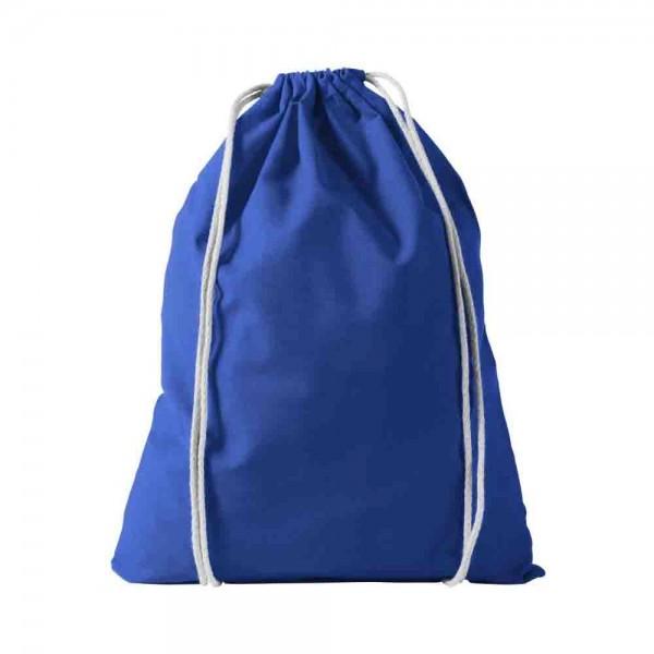 Baumwollrucksack Blau zum Bemalen und Gestalten