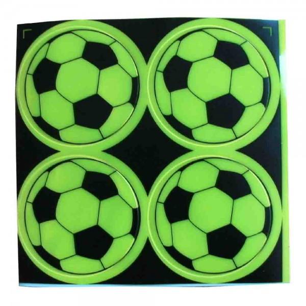 Reflektierende Fußballsticker 4St.