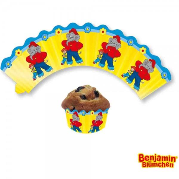 Benjamin Blümchen Cupcake Banderolen