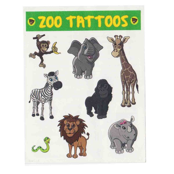 Lang haltende Zoo Tattoos