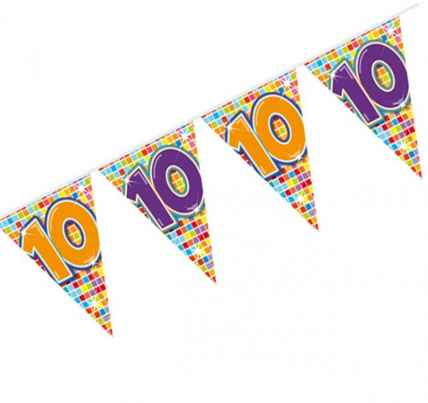 Wimpelkette 10.Geburtstag