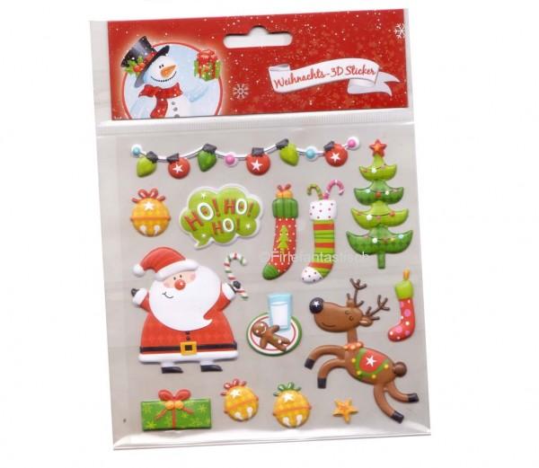 Weihnachten 3D-Sticker
