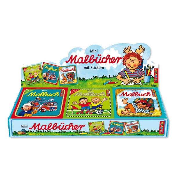Mini-Malbuch mit Stickern Jungen