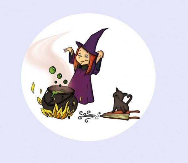 Tortenaufleger kleine Hexe