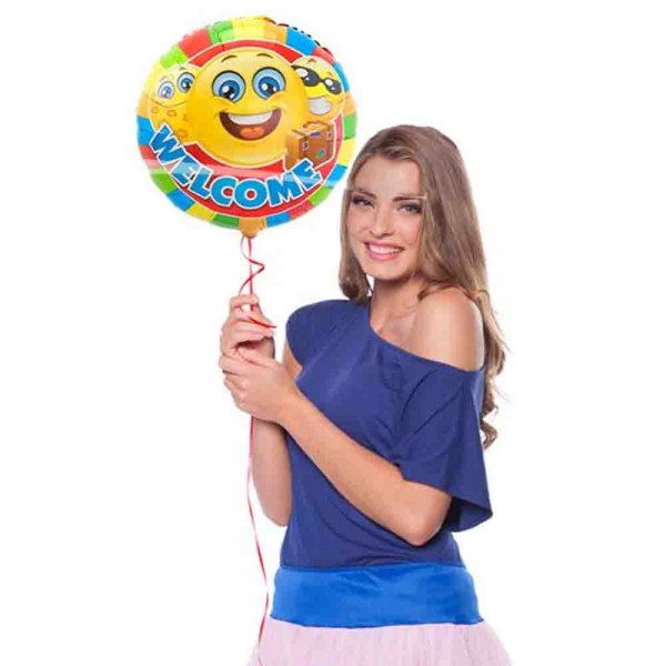 Folienballon Welcome