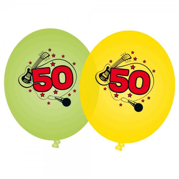 Ballons Rockparty 50