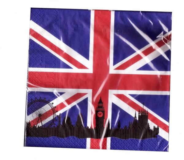 England-Servietten 20 Stück