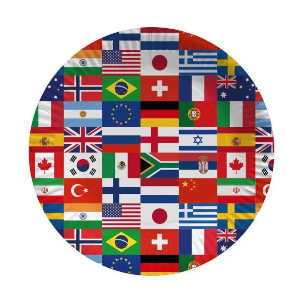 Partyteller Länderflaggen 10 Stück