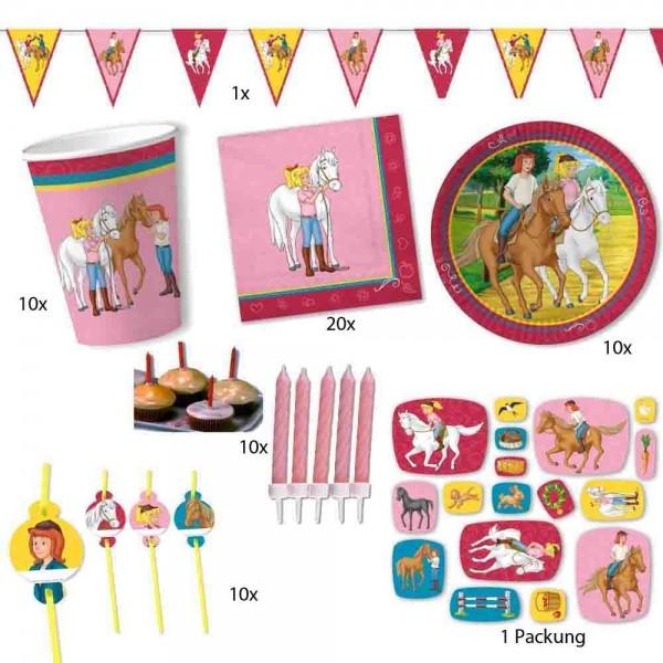 Bibi und Tina Partyset für 10 Kinder