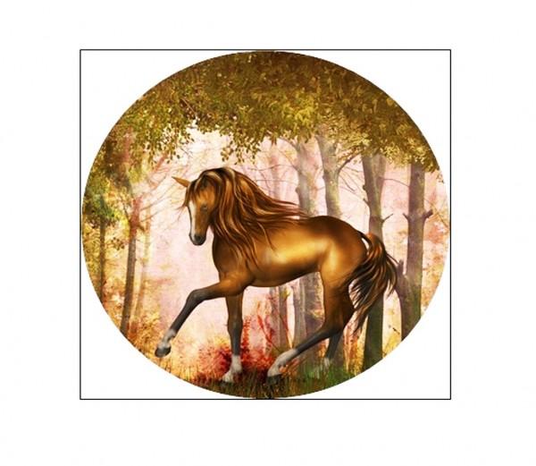Tortenaufleger Pferd braun