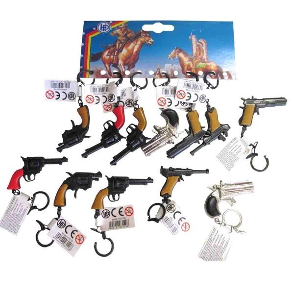 Pistole als Schlüsselanhänger, Mitgebsel Kinderparty