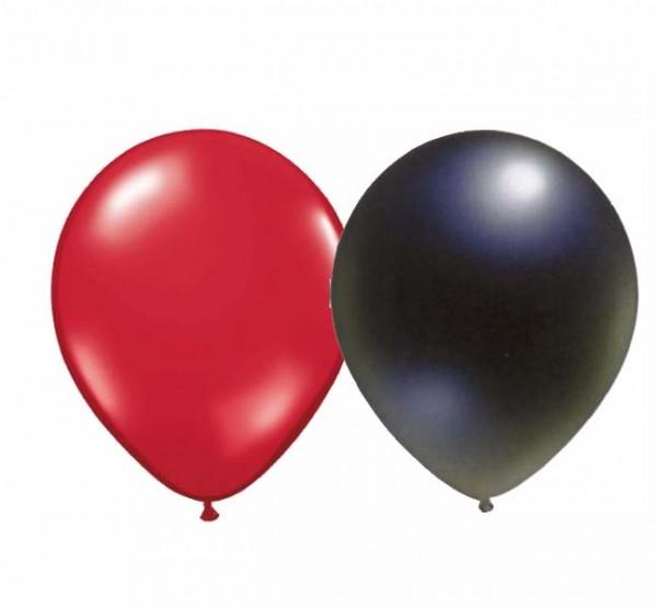 Ballons Rot/Schwarz