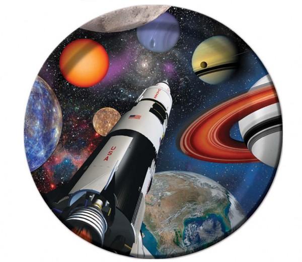 Pappteller für die Astronauten-Party