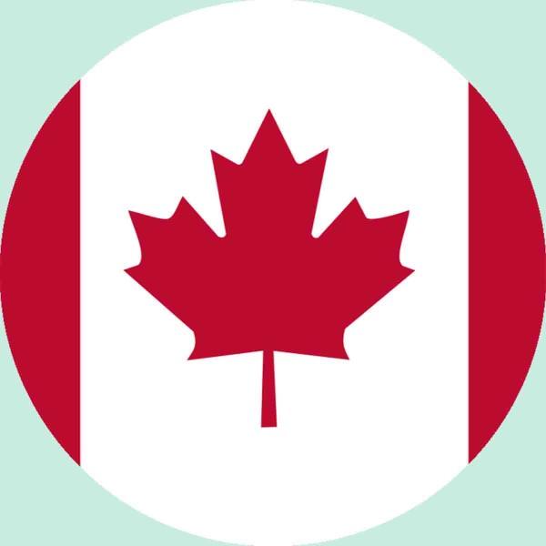 Essbarer Aufleger für die Kanada Party