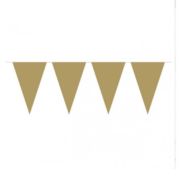 Wimpelkette Gold