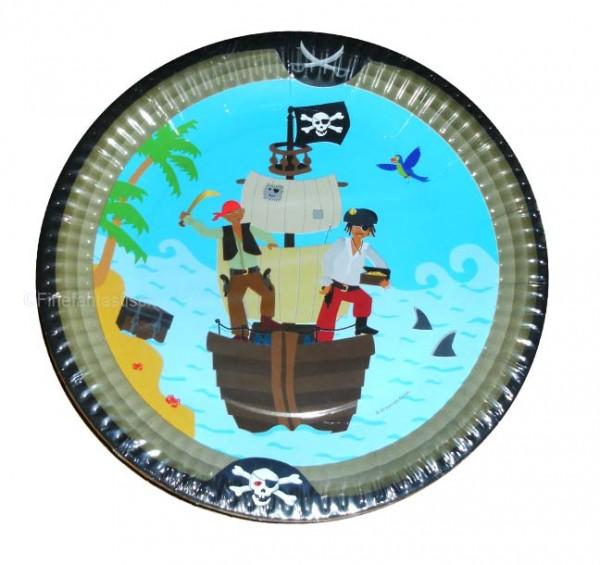 Auf zu neuen Abenteuern. Piratenteller für den Kindergeburtstag