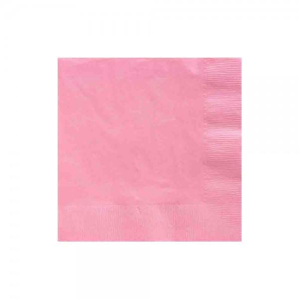 Einfarbige Servietten in Rose, ideal für die Prinzessin Party
