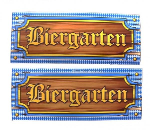 Deko Biergartenschild 2St.