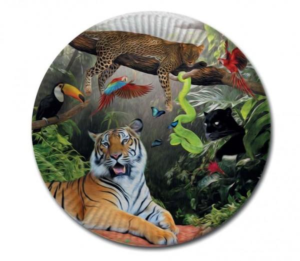 Dschungel-Teller 8 Stück