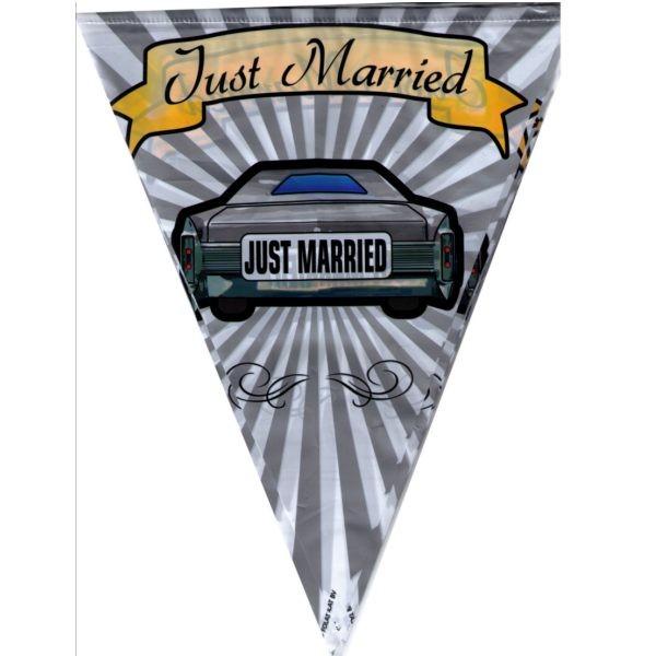 Auto-Wimpelkette Hochzeit