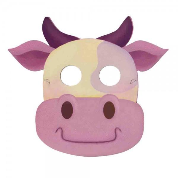 Party-Maske Kuh 8 St.