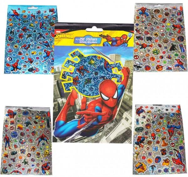 Stickerbuch Spiderman 250St.