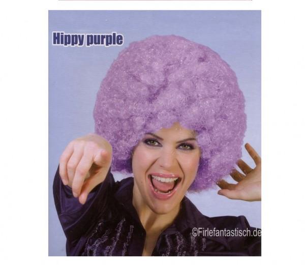 Hippie Perücke purpur