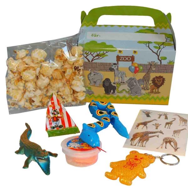 Tragebox mit jeder Menge Überraschungen zum Thema Zoo