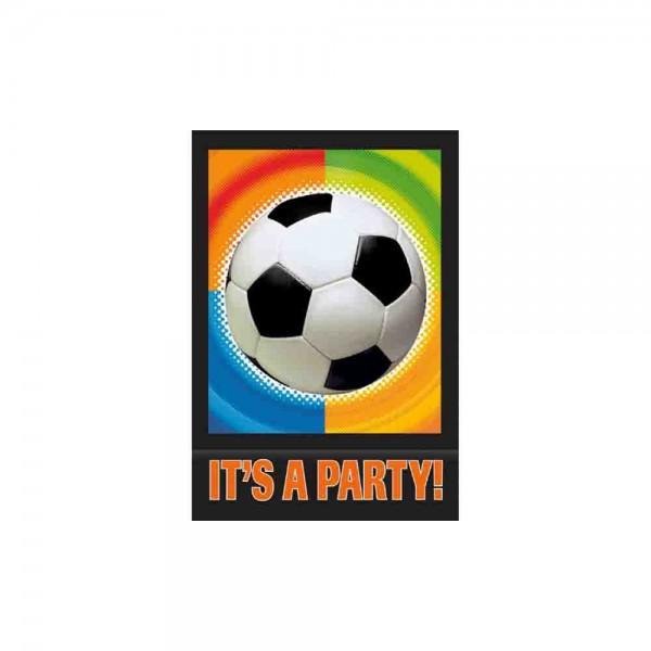 Einladungen für die Fußballparty