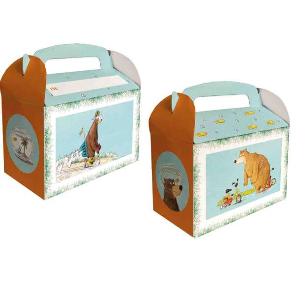Süße Geschekeboxen für Mitgebsel zum Thema Dr. Brumm