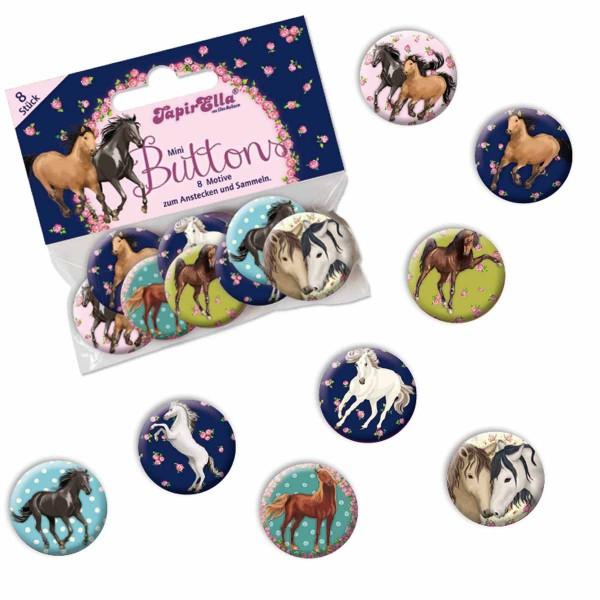 Packung mit 8 Pferde Buttons