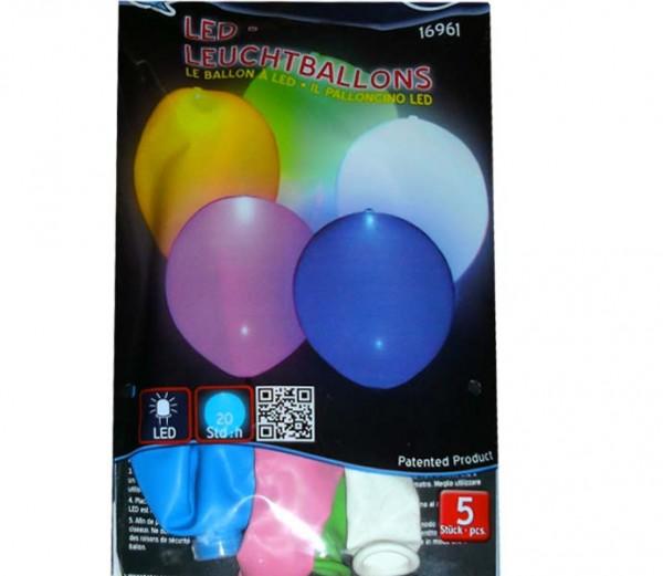 Luftballon mit LED-Licht 5St.
