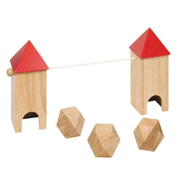Fußballspiel aus Holz