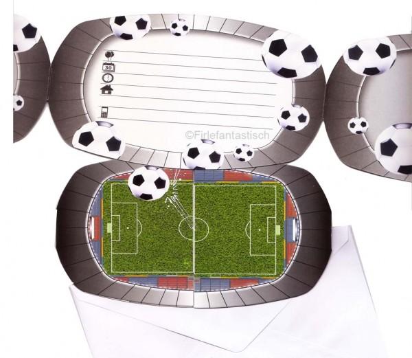 Kindergeburtstag Fußball EInladungskarten