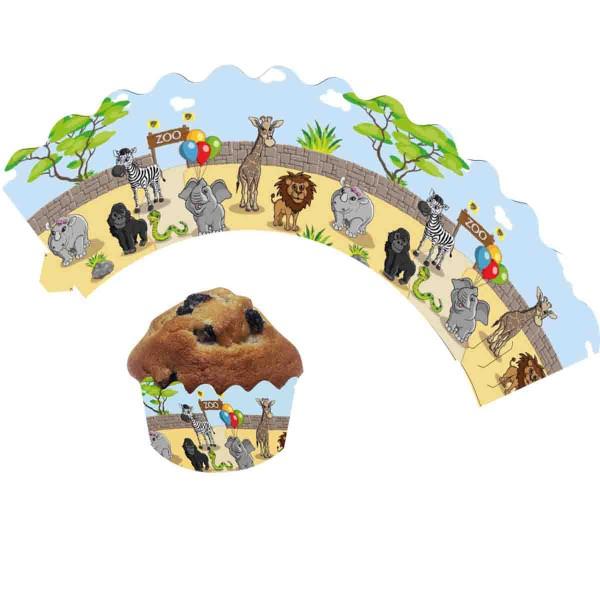 Muffinbanderolen zum Thema Zoogeburtstag